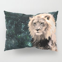 Lion King of the Emerald Panthera Galaxy Pillow Sham