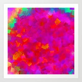 Little rainbow, big pink .. Art Print