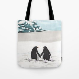 Penguins in love Tote Bag