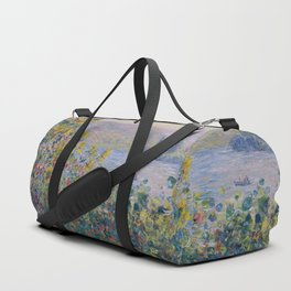 Flower Beds at Vetheuil by Claude Monet Duffle Bag