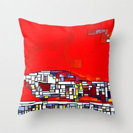 Spinner Cubism Throw Pillow