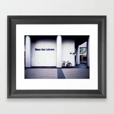 house des lehrers Framed Art Print