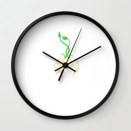 Lamp with plant Wall Clock