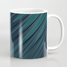 OCEANIC blue green fractal ocean waves abstract design Coffee Mug