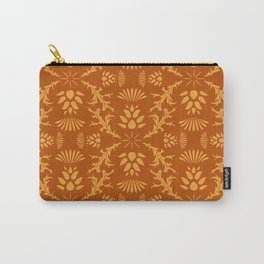 Thistles on Orange Carry-All Pouch