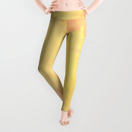 Modern Bright Yellow Abstract Art Leggings