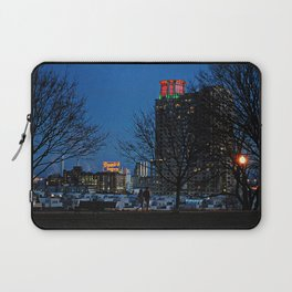 Federal Hill at Night, Baltimore, Maryland Laptop Sleeve