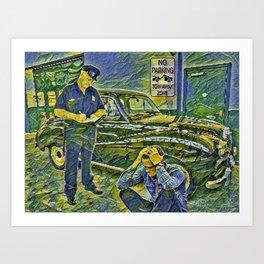 Abstract No Partking Art Print