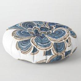 Blue Trametes Mushroom Floor Pillow