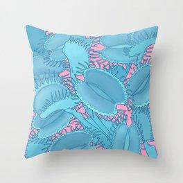 Free hugs (Venus Flytrap on pink) Throw Pillow