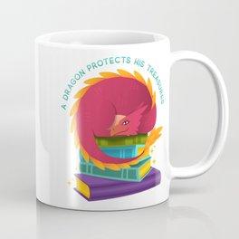 A Dragon Protects His Treasures (books) Coffee Mug