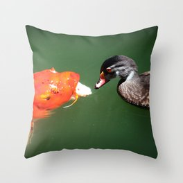 Don't Play Coy with Me Throw Pillow