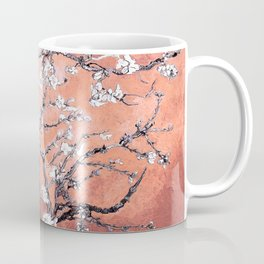 Van Gogh Almond Blossoms : Deep Peach Coffee Mug