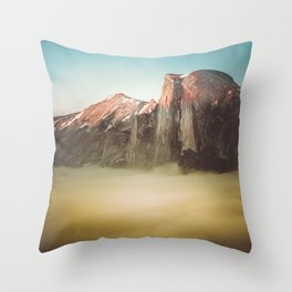 Half Dome Yosemite California Throw Pillow