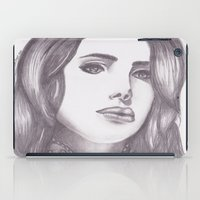 celebrity iPad Cases featuring Celebrity Portrait by N. Rogers Fine Art