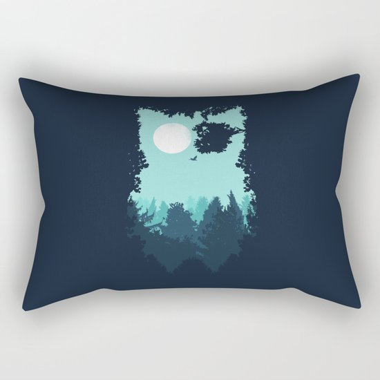 Winter Owl Rectangular Pillow