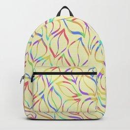 Rainbow Petals on Yellow Backpack