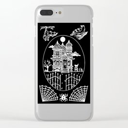 Ominous Victorian House Invert Clear iPhone Case