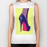 shoe Biker Tanks featuring Shoe by Giuseppe Cristiano