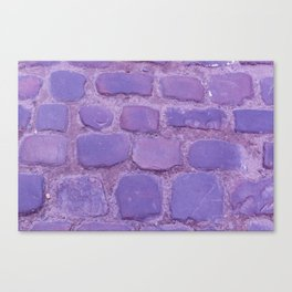 Ultra Violet Texture Ancient Cobblestone Roadway Close-up Canvas Print