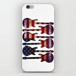 American Flag Guitar Art iPhone Skin