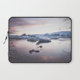 Sunset over Glacier Lagoon - Landscape and Nature Photography Laptop Sleeve