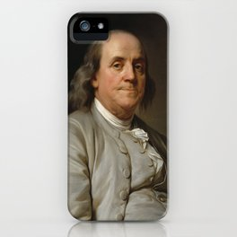 Benjamin Franklin Oil Painting iPhone Case