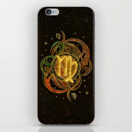 Virgo Zodiac Sign Earth element iPhone Skin
