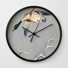 Ohara Koson - Top Quality Art - Two Ducks Wall Clock