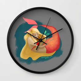 A Maid of La Mer  Wall Clock