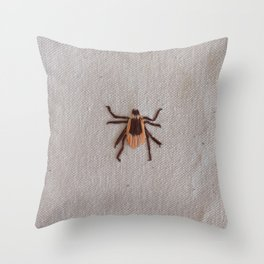 Deer Tick Throw Pillow