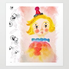 Clowning Around Art Print