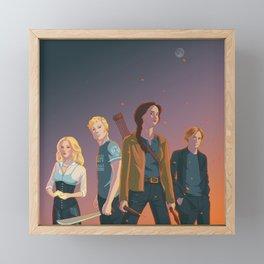 The Team Framed Mini Art Print