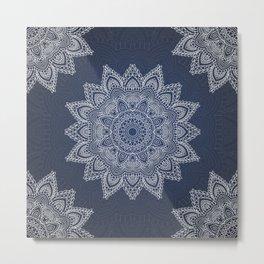 Blue mandala tibetan pattern Metal Print
