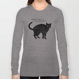 A Familiar Black Cat Long Sleeve T-shirt
