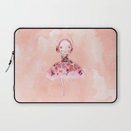 Isabella Bellarina Dancing on Peach Watercolour Laptop Sleeve