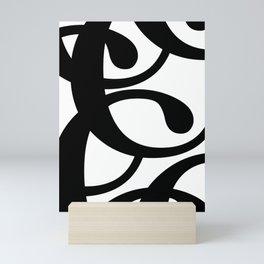 Hidden Letters. Baskerville C Mini Art Print