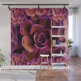 PURPLE TINGED JADE CACTI SUCCULENTS Wall Mural