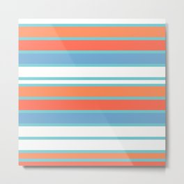 Summer Stripes Metal Print
