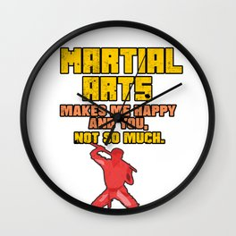 Martial Arts Fighting Sport Combat Sword Gift Wall Clock