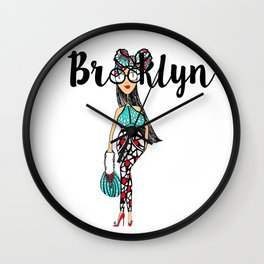 HeadWrapped Wall Clock