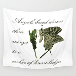 Angels Bend Down Their Wings To A Seeker Of Knowledge Wall Tapestry