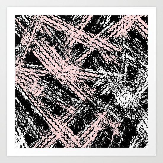 Desert Tracks Pink Art Print