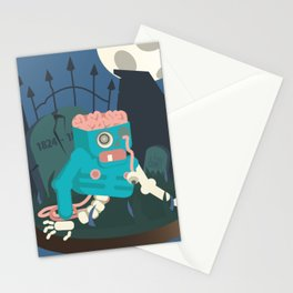 ZOMBIE CRAWLER IN CEMETARY Stationery Cards