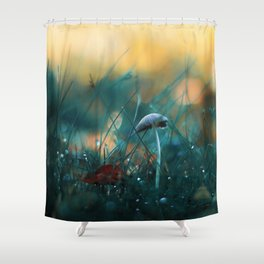 Fire in the Water Shower Curtain