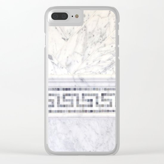 Greek Marble 2 Clear iPhone Case