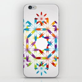 A large Colorful Christmas snowflake pattern- holiday season gifts- Happy new year gifts iPhone Skin