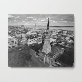 St Philips Black and White Metal Print