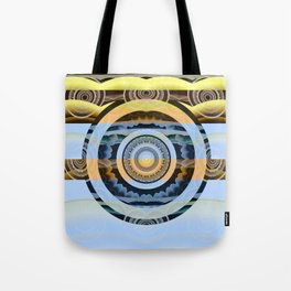 Sunrise Eye Healing Visionary Tibetan Meditation Mandala Tote Bag