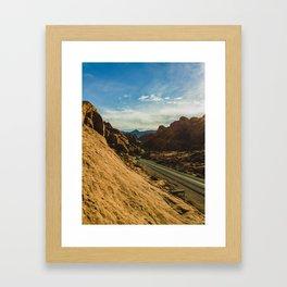 driving through fire Framed Art Print
